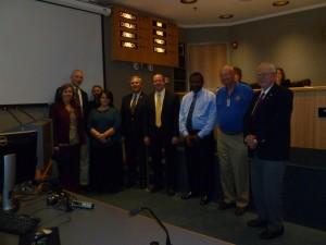 Chairman Stewart with Woodbridge Rotary