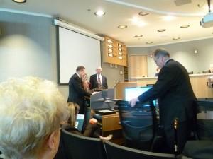 Corey Stewart presenting to President Darcy