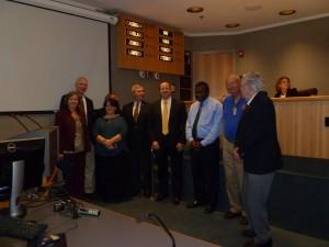 Rotarians with Chairman Stewart